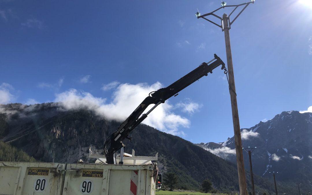 Fin des travaux d'enfouissement de ligne électrique au Roubion