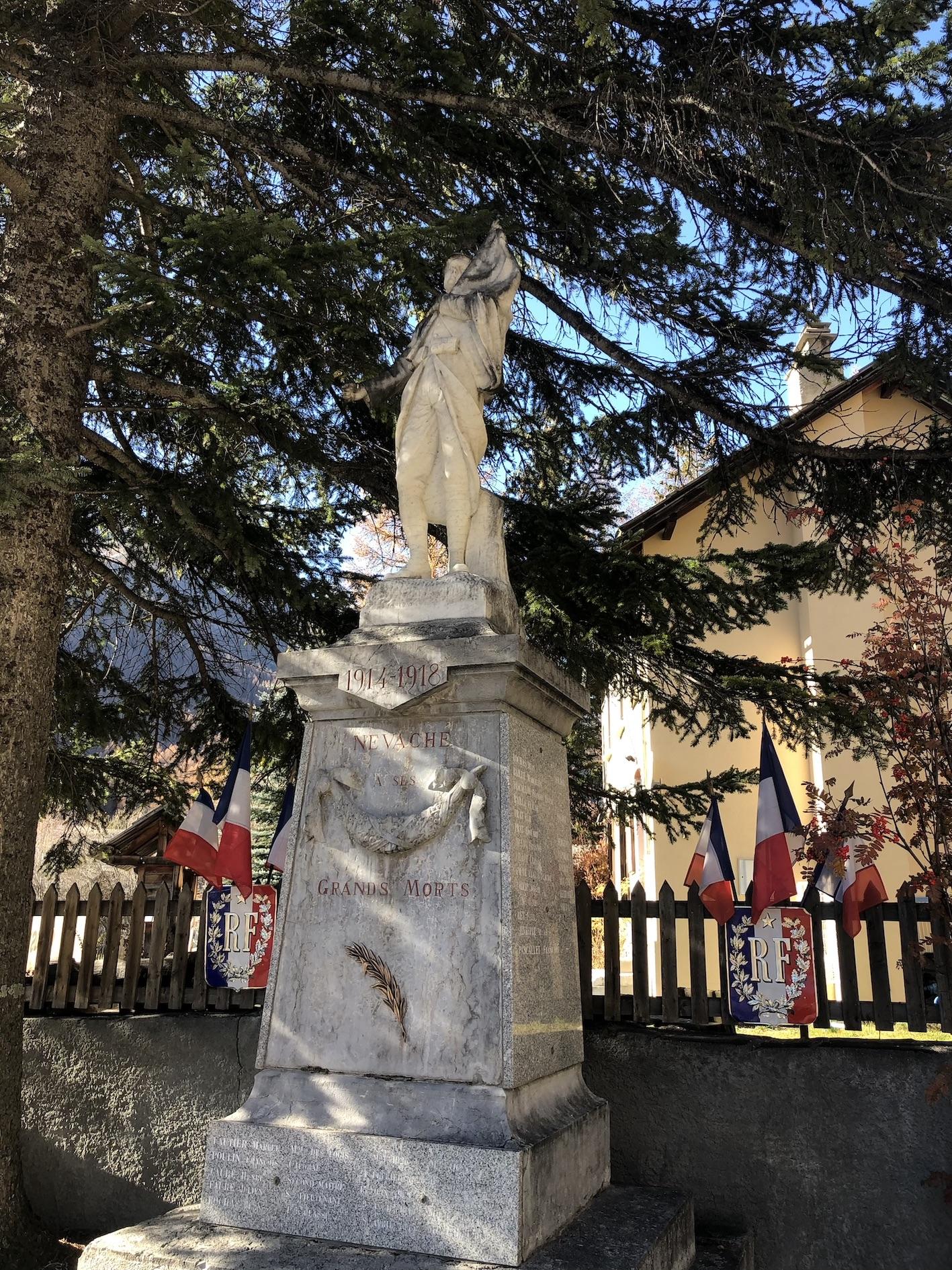 Cérémonie du 11 novembre à Névache.
