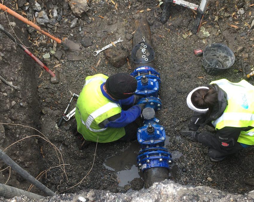 Fin de la première tranche de travaux sur le réseau d'eau du Cros