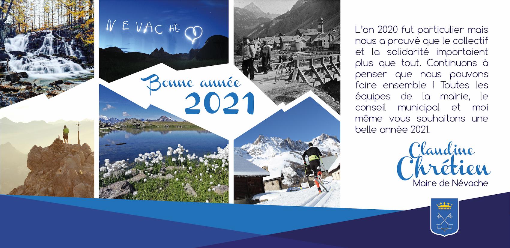 Bonne année 2021 à Névache.