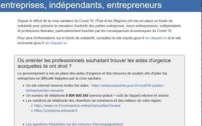 Fond de solidarité pour les entreprises, indépendants et entrepreneurs