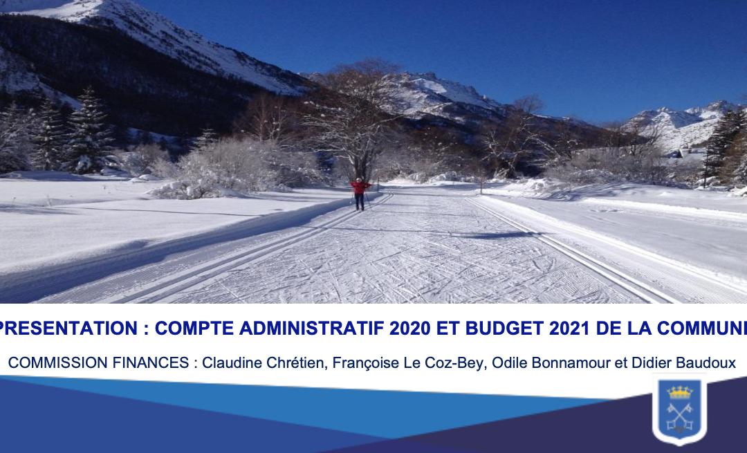Présentation compte administratif 2020 et du budget 2021