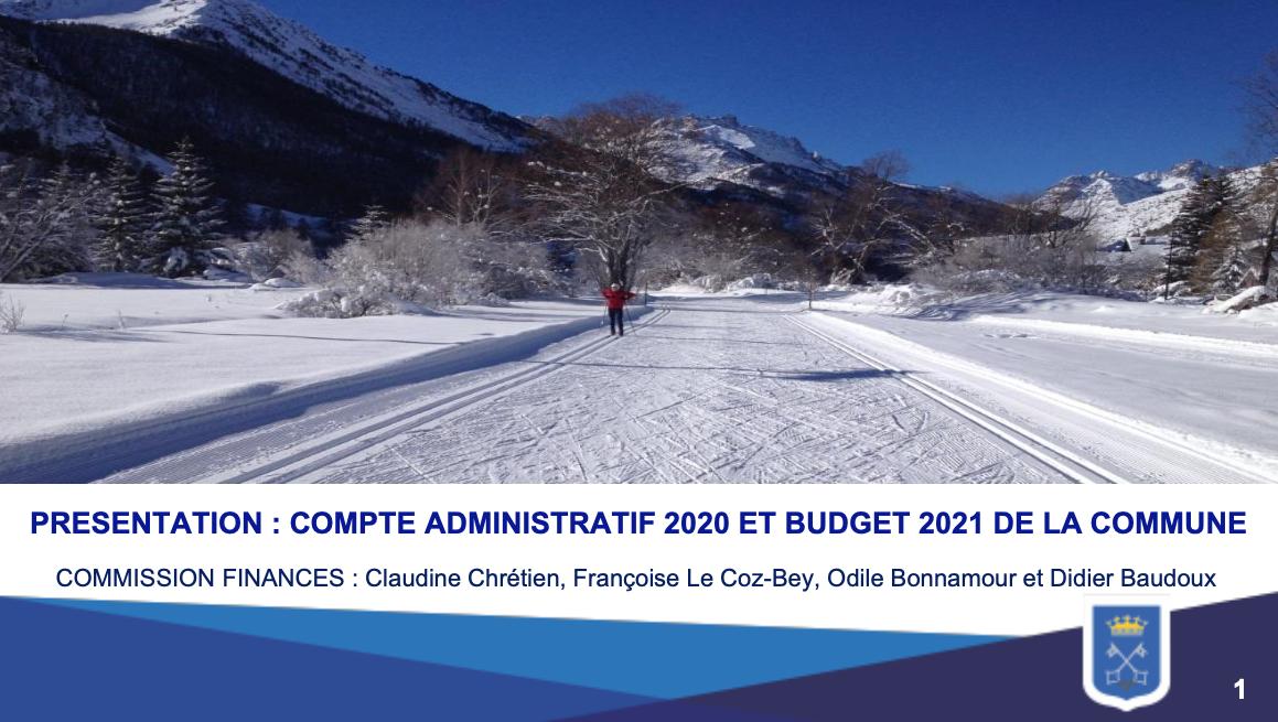 Névache - Présentation compte administratif 2020 et budget 2021