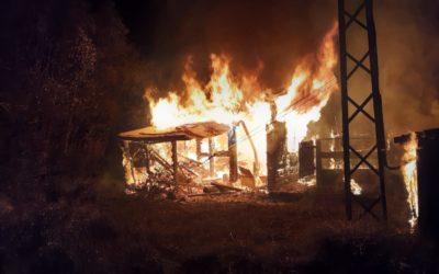 Incendie du téléski du bois noir