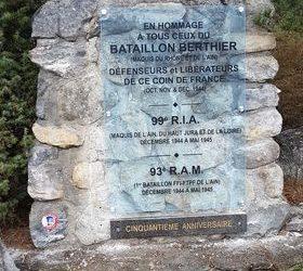 Invitation à l'inauguration de la nouvelle plaque en mémoire du Bataillon Berthier